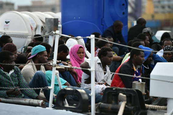 More than 1,200 Nigerian women arrived in Italy by boat in 2014  [Getty Images]