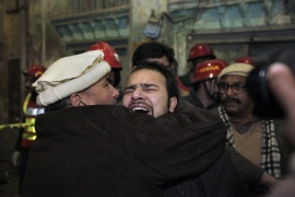 The blast occurred as minority Shias gathered to mark the birthday of the Prophet Muhammad [AP]