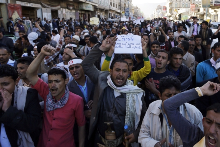 Rallies against the Houthi takeover of Sanaa took place in several key cities across the country [Reuters]