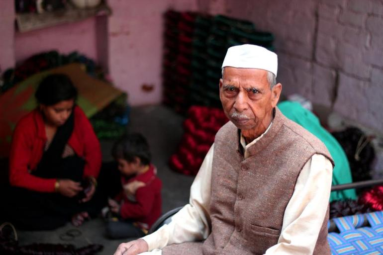 Babu Ram Mishank, 80 has been working in the bangle industry throughout his entire life and according to him the things have remained the same with no change in the working conditions.