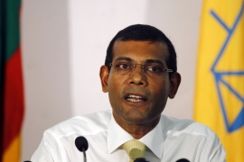 Nasheed is accused of using the military to arrest the senior judge when it had no authority to do so [AP]