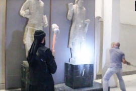 ISIL video shows destruction of Mosul artefacts