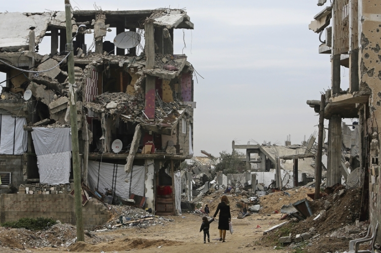 While some damaged buildings in Gaza have been repaired, almost no large-scale reconstruction projects have started [AP]