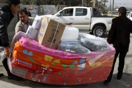 The fight for al-Baghdadi has led to an exodus of residents from Anbar to the capital Baghdad [Reuters]