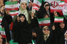 Iran is one of the few countries that block women from attending football matches, but has permitted female fans at some other sports venues [AP]