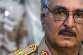 Parliament confirmed General Khalifa Haftar as army commander for the UN-recognised government [Reuters]