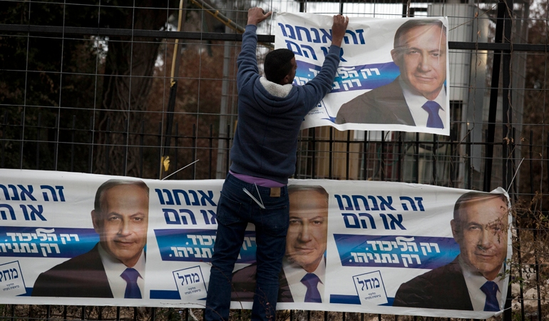 Israelis will go to the polls for the country's general election on March 17 [EPA]