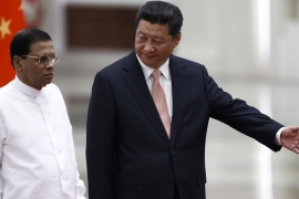 Maithripala Sirisena wants to balance Sri Lanka's China ties against those with India [EPA]
