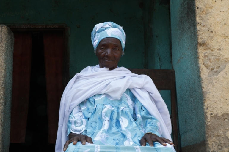 Koly Beavogui, 80, an animist traditional healer [Misha Hussain/Thomson Reuters Foundation]