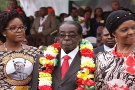 Zimbabwe's President Robert Mugabe is survived by his four children and wife Grace [AP]