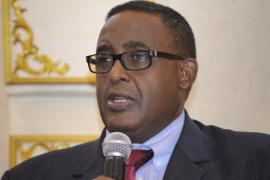 Omar Abdirashid Ali Sharmarke's biggest challenge is unifying the country and defeating al-Shabab [EPA]