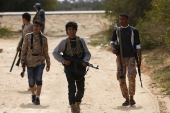 Fighters from Misrata move towards ISIL positions near Sirte [REUTERS]