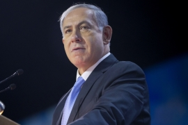 Netanyahu speaks at the American Israel Public Affairs Committee Policy Conference in Washington [AP]