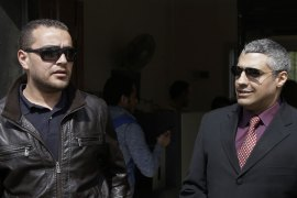 Mohamed and Fahmy, along with Greste were sentenced last year to between seven and 10 years in jail [AP]