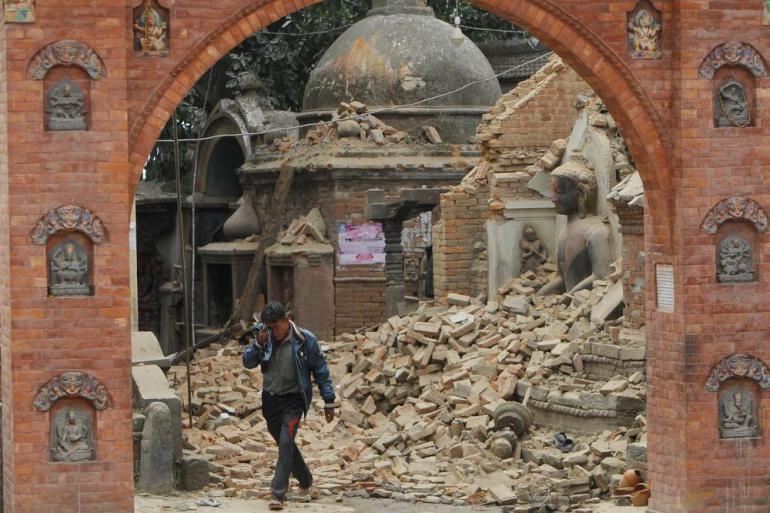 The earthquake shook Nepal's capital and the densely populated Kathmandu Valley, causing extensive damage with toppled walls and collapsed buildings, officials said.