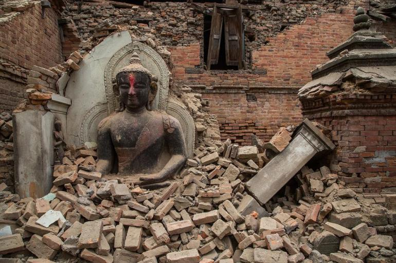 Several UNESCO world heritage sites were destroyed following the quake.