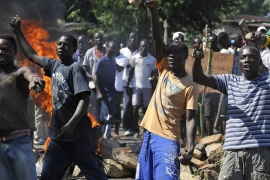 At least six people have been killed in protests since the ruling party endorsed Nkurunziza as a candidate for the June polls [AFP]