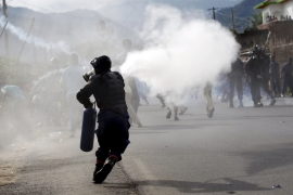 Police used tear gas and in some cases live ammunition to disperse the protesters [Reuters]