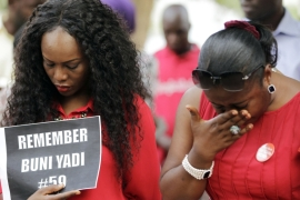 Protests and marches have been taking place in Nigeria to mark the anniversary of the schoolgirls' abduction by Boko Haram [Reuters]