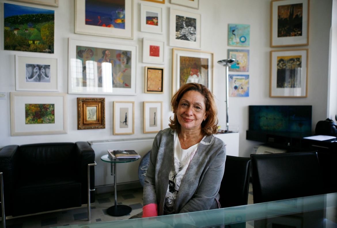 'The art scene in Amman is very rich at the moment, but still only reaches a niche audience, so there is work to be done in this sense,' said Nadia Zacharia, the director of the art gallery Nabad. [Silvia Boarini/Al Jazeera]