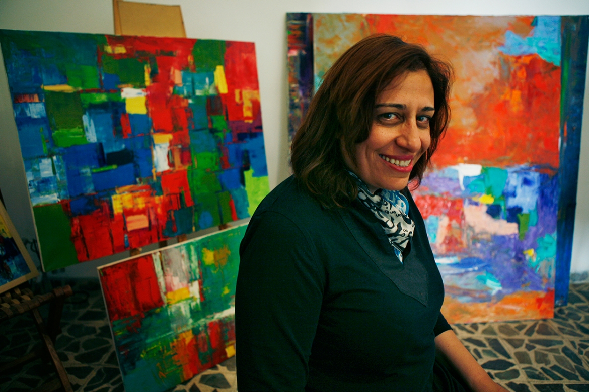 According to artist Rana Safadi: 'The influx of artists from the region has brought new depth to the art scene'. [Silvia Boarini/Al Jazeera]