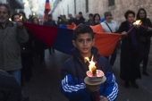 Armenian memorial march marking the 100th anniversary of the mass killings in Jerusalem's Old City [REUTERS]
