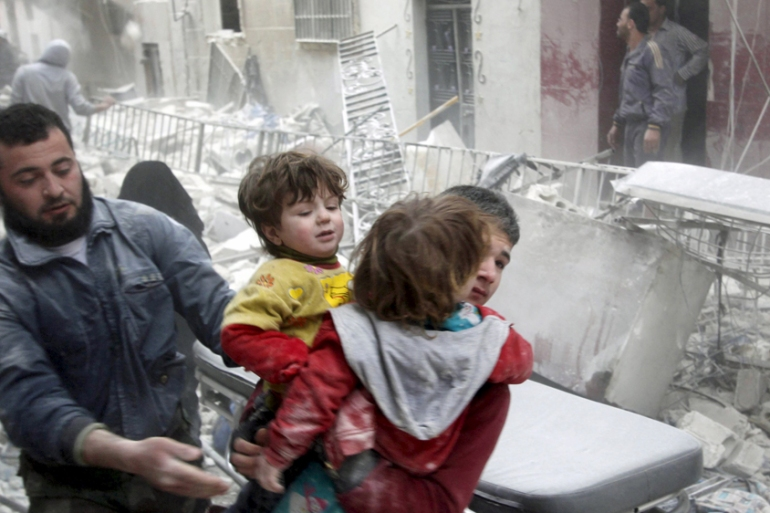 At least 220,000 people were killed during the Syrian conflict as millions of others lost their homes [Reuters]