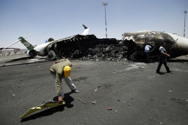 The UN said on Monday that the Saudi-led coalition should stop targeting Yemen's Sanaa airport [AP]