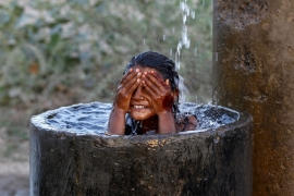The way to keep cool in Ahmedabad, India [Reuters]