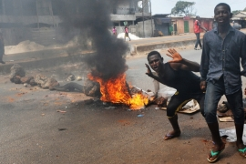 Guinea anti-government protest turns violent
