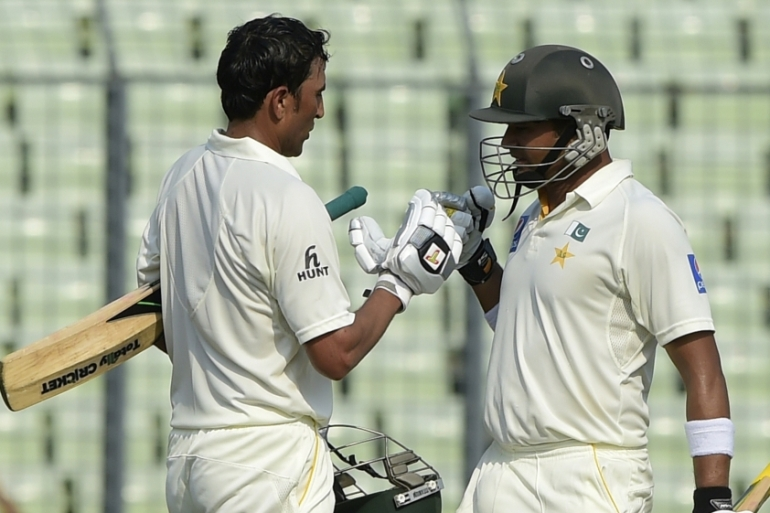 Azhar and Younis put on 250 for the third wicket [Getty Images]