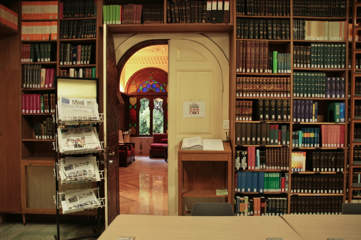 Located in the historic but neglected neighbourhood of Zoqaq al-Blat (literally, cobbled or paved alley), the German Orient-Institut Beirut (OIB) has turned an Ottoman palace that previously belonged to the Farjallah family into an academic research facility for all things Arabic and Islamic. [Venetia Rainey/Al Jazeera]