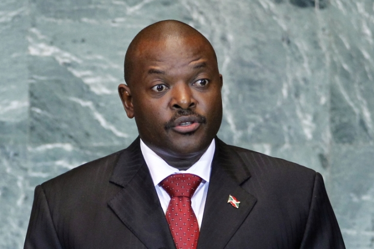President Pierre Nkurunziza won a disputed election in July, setting off demonstrations [AP]