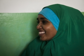 Twenty-eight-year-old Dr Mariam Osman Salad has been a surgical resident at Mogadishu's Banadir Hospital for the past two years [Adriane Ohanesian]