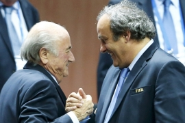 Platini is favourite to success Blatter as FIFA president [Reuters]