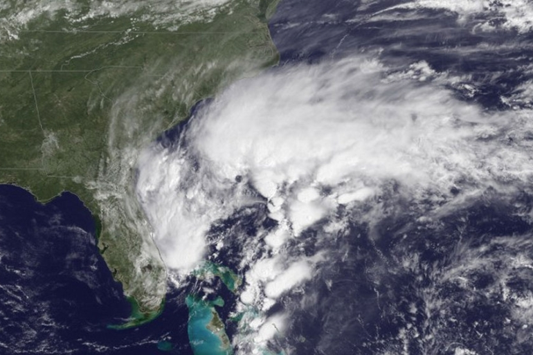 Storms gather as an area of low pressure brews up off the southeast coast of the US [AFP PHOTO / HANDOUT / NOAA]