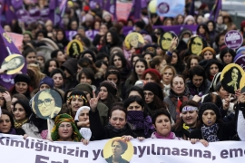 Women's rights are a hot topic of discussion in Turkey, often sparking protests [EPA]