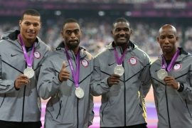 The US men's 4x100 team was stripped of the gold it won at London 2012 [Getty Images]