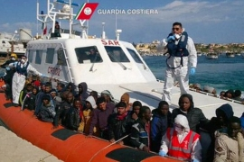 About 220 migrants, mostly from Sub-Saharan Africa, were brought to Italian island of Lampedusa [AP]