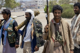 In the southern port city of Aden, at least 27 people were reportedly killed in the fighting on Saturday [AP]