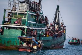 Thousands of Rohingya migrants have fled Myanmar after alleged persecution [AFP]