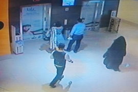 Handout image of CCTV footage provided by police shows the individual guilty of stabbing an American teacher [Abu Dhabi Police]
