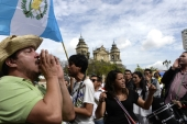 Demonstration demanding the resignation of Guatemalan President Otto Perez Molina [AFP]