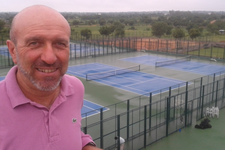 Filhol taught himself tennis aged 15 before becoming head coach at a local tennis school two years later [Al Jazeera]