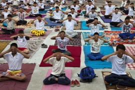 India's Modi joins thousands for global Yoga Day