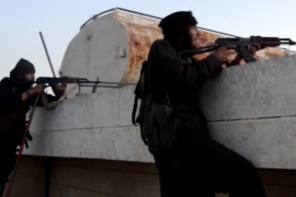 ISIL fighters in Aleppo province [Al Jazeera]