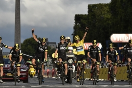 It was Team Sky's third Tour triumph in four years [Getty Images]
