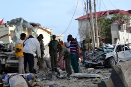 Al Shabab claimed responsibility for the car bombing of Jazeera Hotel, which houses several embassies [Al Jazeera]