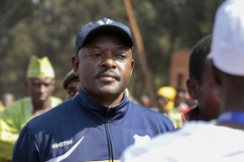 Violence erupted in April, when President Nkurunziza launched his now successful but controversial bid for a third term [AP]