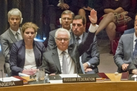 Russia is one of the five permanent UN Security Council members with veto powers [AP]
